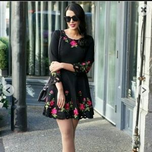 Chicwish embroided flower dress
